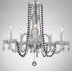 Crystal Chandelier Lighting With Black Crystal