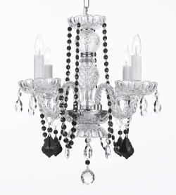 Crystal Chandelier Lighting With Black Crystal