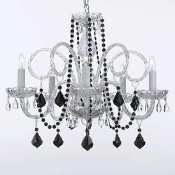 Venetian Style All Crystal Chandelier Lighting With Black Crystal - Thumbnail 0