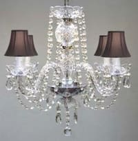 All Crystal Chandelier With Black Shades