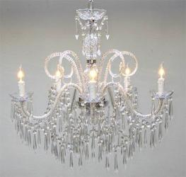 New Venetian Style All Crystal Chandelier Lighting H25 x W24