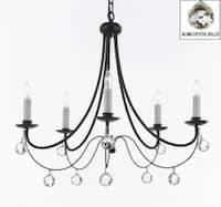 Empress Crystal Wrought Iron Chandelier Lighting H22.5 x W26