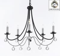 Empress Crystal Wrought Iron Chandelier Lighting H22.5 x W26