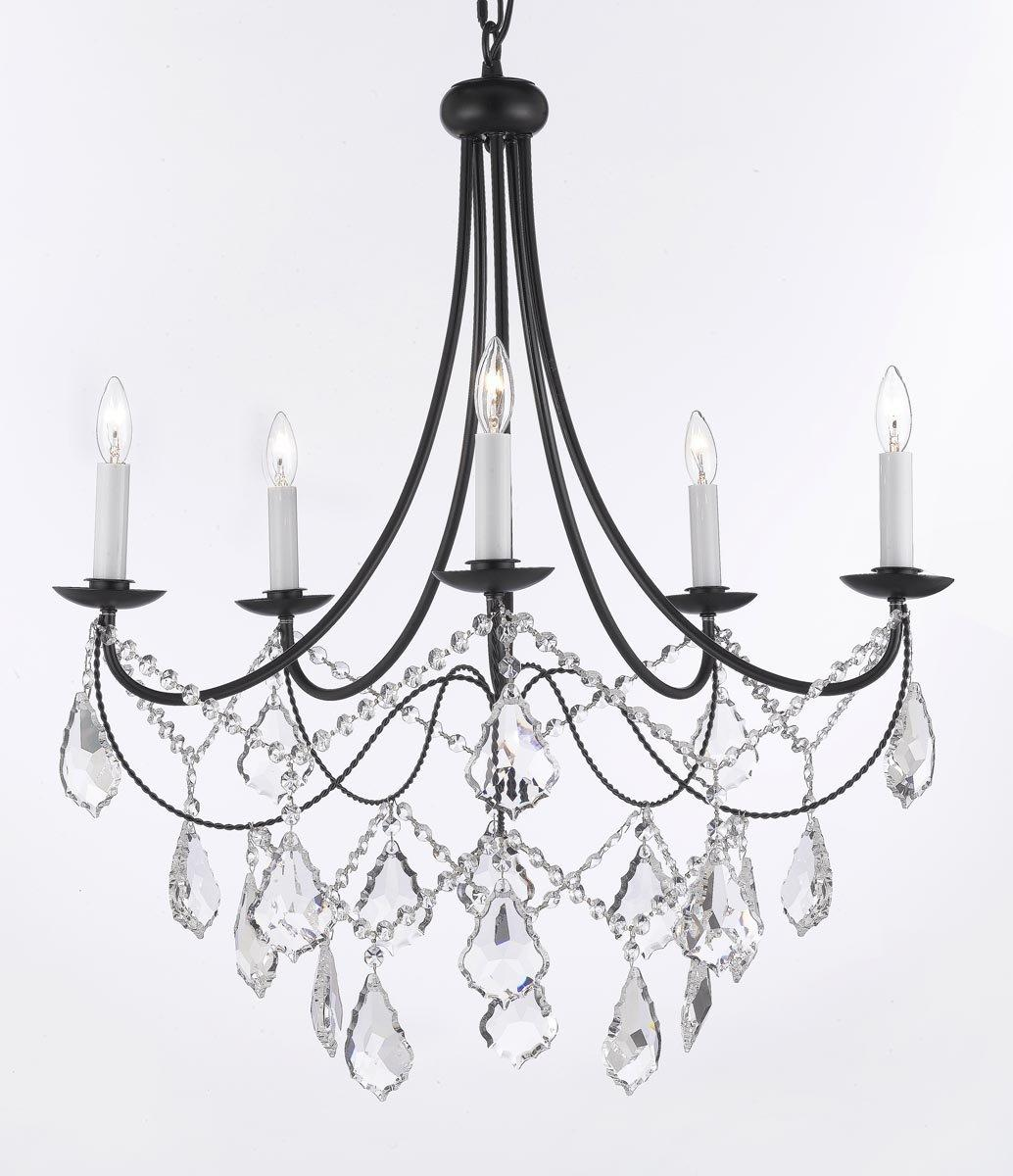 Empress crystal wrought iron chandelier lighting h22 5 x w26