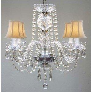Venetian Style All Crystal Chandelier Lighting With Shades