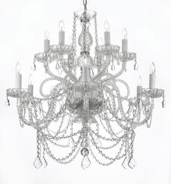 Venetian Style All Crystal Chandelier Lighting - Thumbnail 0