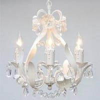 Plug In  Wrought Iron Floral Chandelier Lighting H15 x W11