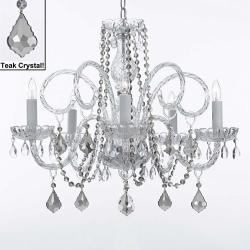 Venetian Style All Crystal Chandelier Lighting With Teak Crystal - Thumbnail 0