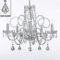 Venetian Style All Crystal Chandelier Lighting With Teak Crystal