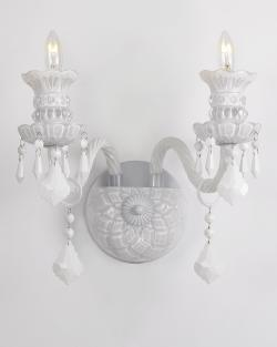 Snow White Venetian Style Crystal Wall Sconce Lighting - Thumbnail 0