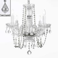 Crystal Chandelier Lighting With Teak Crystal