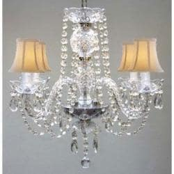 Venetian Style All Crystal Chandelier Lighting With Shades - Thumbnail 0