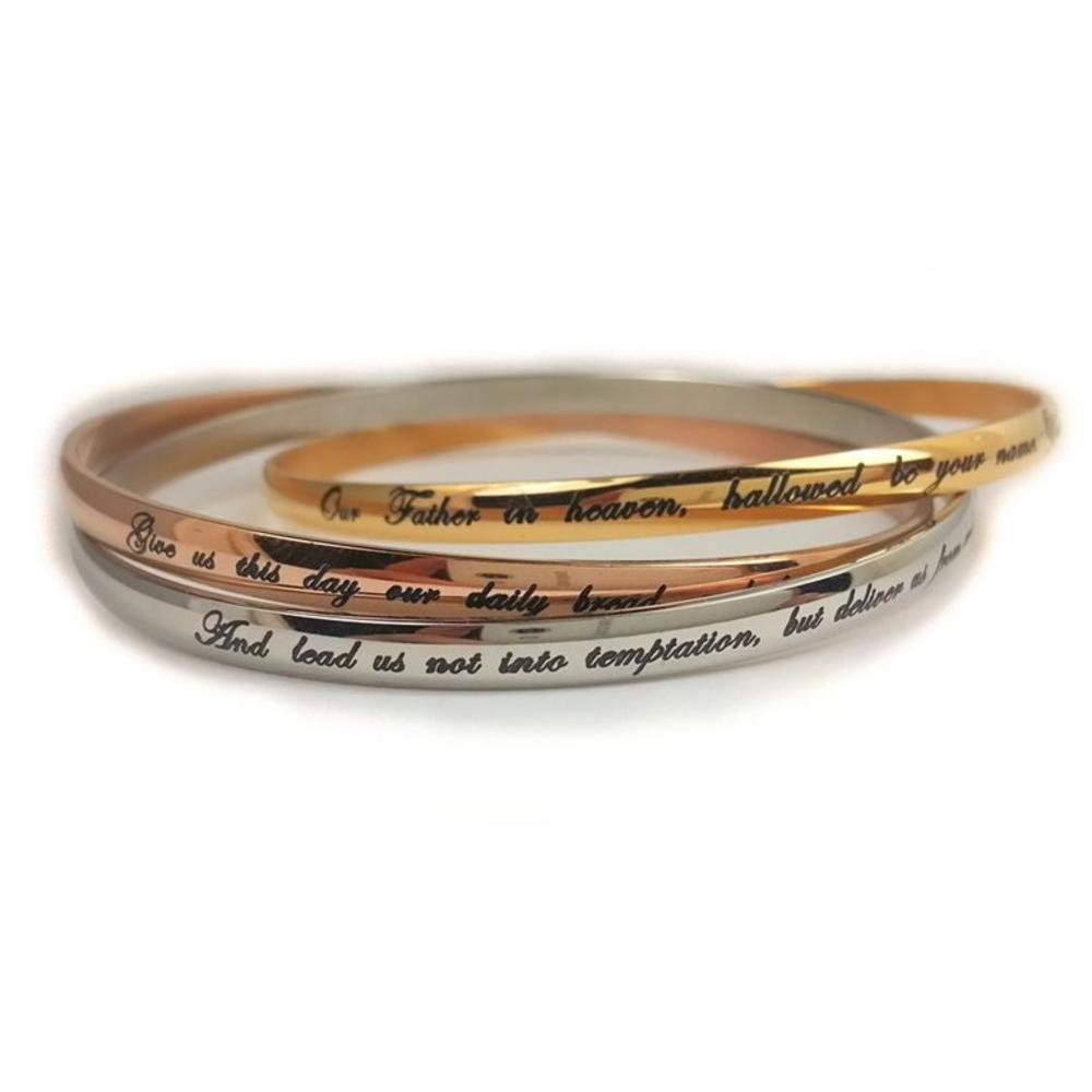 The Lord s Prayer Bangle Bracelet Set