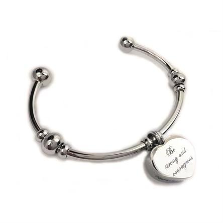 Be Strong and Courageous Cuff Bracelet