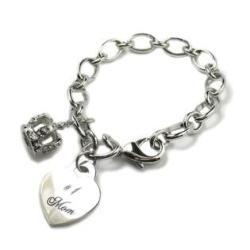 #1 Mom Charm Bracelet - Thumbnail 0