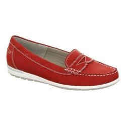 Women's ara Monica 30859 Loafer Red Nubuck