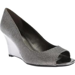 Women's Bandolino Jamila Wedge Pewter Fabric
