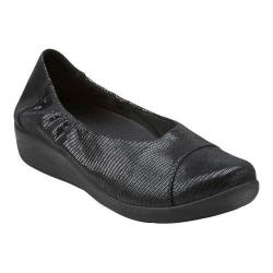 Women's Clarks Sillian Intro Black Mini Lizard