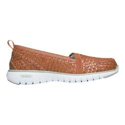 Women's Propet TravelLite Slip-On Woven Burnt Orange Woven Polyurethane