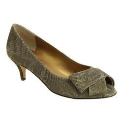 Women's VANELi Ullie Peep-Toe Pump Platinum Nizza Fabric