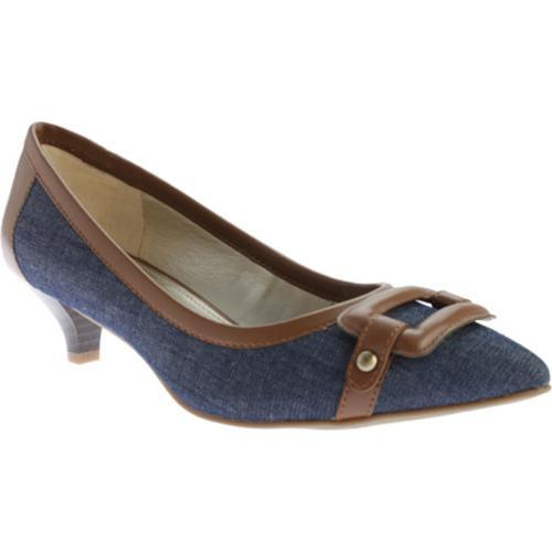 8790b6a0ebe Shop Women s Anne Klein Melanie Pointed Toe Pump Medium Blue Cognac Fabric  - Free Shipping Today - Overstock - 11207722
