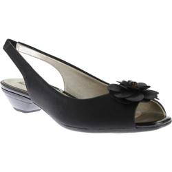 Women's Anne Klein Lesta Slingback Black 2 Synthetic