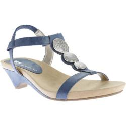 Women's Anne Klein Tayla Sandal Navy Synthetic