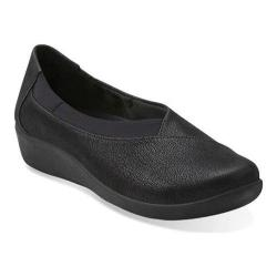 Women's Clarks Sillian Jetay Black Synthetic Nubuck