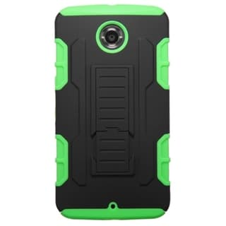 INSTEN Car Armor Dual Layer Hybrid Rubberized Hard PC/ Soft Silicone Phone Case With Stand For Motorola Nexus 6