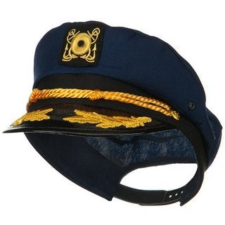 Navy Yacht Captain Costume Hat