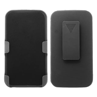 INSTEN Rubberized Hard Slim Snap-on Holster Belt Clip For Samsung Galaxy S4 LTE version GT-I9506/ S4 GT-i9500