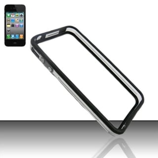 INSTEN TPU Rubber Candy Skin Transparent Bumper Frame Phone Case Cover For Apple iPhone 4/ 4S