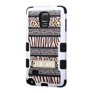 INSTEN Tuff Dual Layer Hybrid Rubberized Hard PC/ Soft Silicone Phone Case With Stand For Samsung Galaxy Note 4
