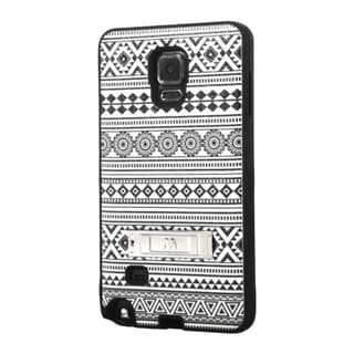 INSTEN Dual Layer Hybrid Rubberized Hard PC/ Soft Silicone Phone Case With Stand For Samsung Galaxy Note 4