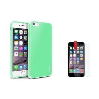 INSTEN Jelly TPU Rubber Candy Skin Phone Case Combo with Clear Screen Protector for Apple iPhone 6+/ 6s+