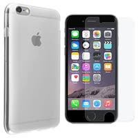 INSTEN TPU Rubber Candy Skin Phone Case Cover Combo With Clear Screen Protector For Apple iPhone 6 Plus/ 6+