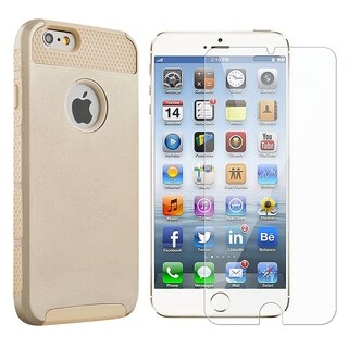 INSTEN Dual Layer Hybrid PC/ Soft Silicone Phone Case Cover Combo With Clear Screen Protector For Apple iPhone 6