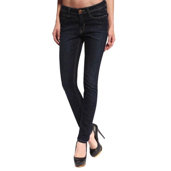Anladia Women's Classic Indigo Skinny Jeans