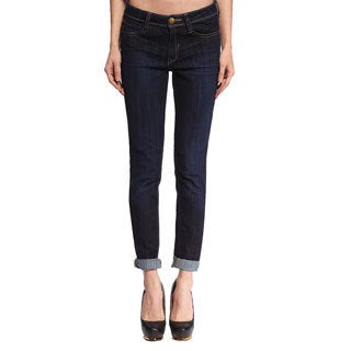 Anladia Women's Dark Blue Relaxed Denim Jeans