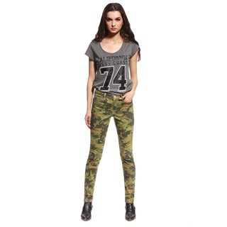 Anladia Women's Casual Camouflage Skinny Jeans