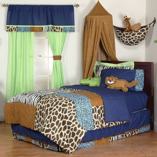 Boys' Jazzie Jungle 8-piece Bed-in-a-Bag with Sheet Set