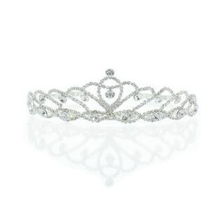 Kate Marie 'Iris' Silver Rhinestone Crown Tiara