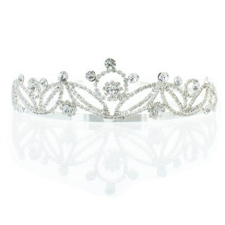 Kate Marie 'Keri' Silver Rhinestone Crown Tiara