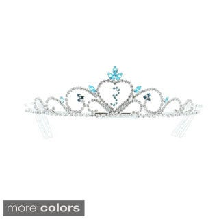 Kate Marie 'Gia' 3 Year Milestone Rhinestone Tiara with Hair Combs