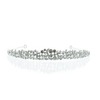 Kate Marie 'Hedy' Silver Rhinestone Crown Tiara