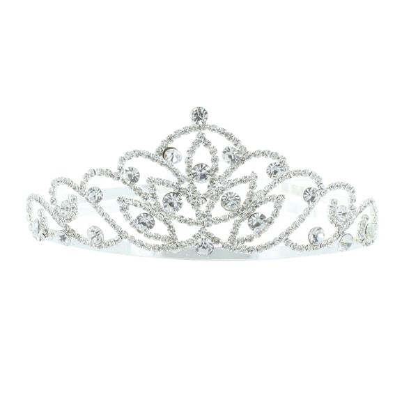 Kate Marie 'Alli' Silver Rhinestone Crown Tiara