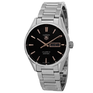 Tag Heuer Men's WAR201C.BA0723 'Carrera' Black Dial Stainless Steel Automatic Watch
