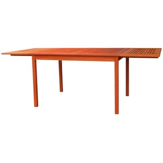 Eco-friendly 82-inch Outdoor Eucalyptus Rectangular Dining Table