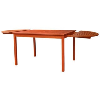 Eco-friendly 82-inch Outdoor Eucalyptus Oval Dining Table