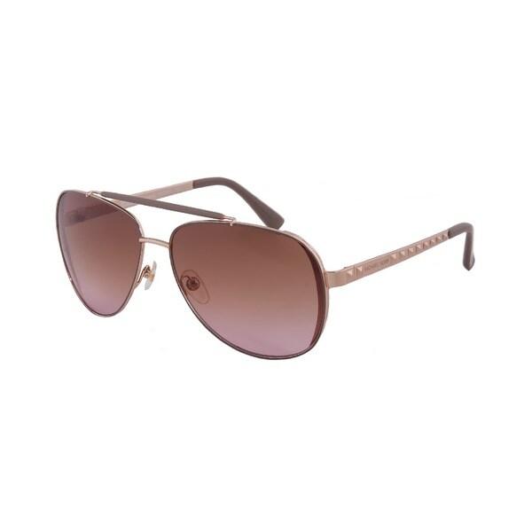 Michael Kors Women  x27 s M2064S Kendall Aviator Rose  Gold Sunglasses e917e9a8b4